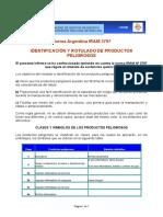 Iram 3797 Identificacion y Rotulado de Productos Peligrosos