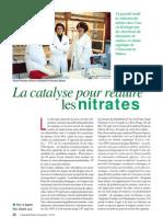La catalyse pour réduire les nitrates
