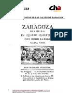 Callejero Historico de Zaragoza