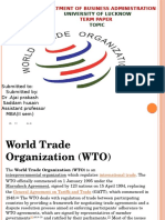 World Trade Organization Ppt