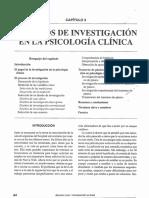 Metodos de Investigacion en La Psicologia Clinica