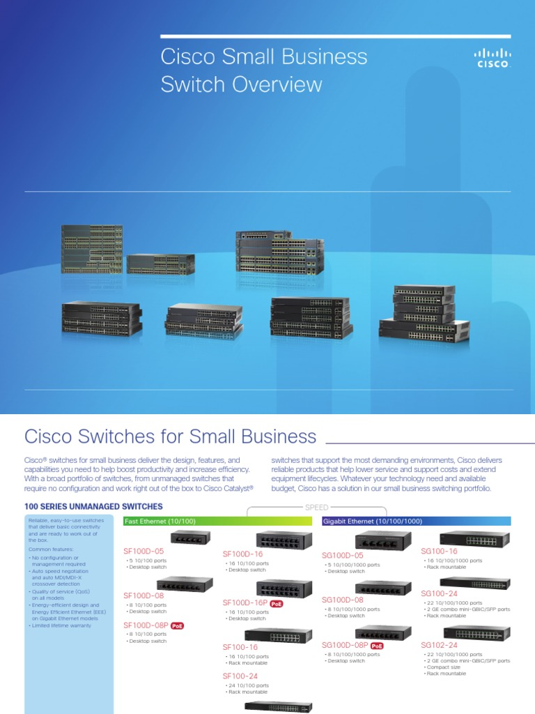 Cisco Small Business Switches   Telecommunications Infrastructure
