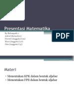 KPK Dan FPB Bentuk Aljabar