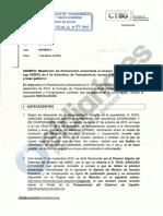 Resolución del CTGB sobre petición de reuniones del Ministerio de Exteriores