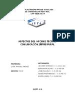 Aspecto Del Informe Tecnico Adolmarys Trabajo Iuta(c)
