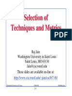 3-Selection of Techniques and Metrics