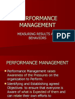 - Measuing Results and Behavior- Performance