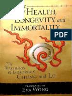 The Tao of Health Longevity and Immortality