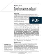 Growing Shopping Malls and Behaviour of Urban Shoppers