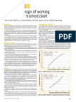 Economic Design of Working Platforms for Tracked Plant