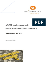 ABCDE Socio Economic Classification MEDIARESEARCH Specification 2015