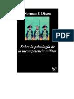 Dixon Norman K - Sobre La Psicologia de La Incompetencia Militar