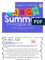abcs of summer printable book end of year activity