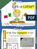 highlight a letter letter identification