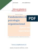 Fundamentos de Psicología Organizacional