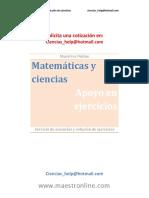 Matemáticas y Ciencias