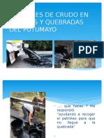 Derrames de Crudo en Los Rios y Quebradas