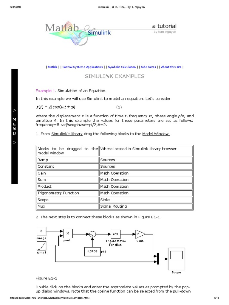 Simulink Tutorial | Matlab | Parameter (Computer Programming)