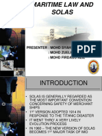 Maritime Law and Solas
