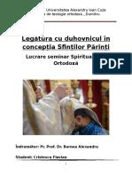 Legătura Cu Duhovnicul În Concepția Sfinților Părinți