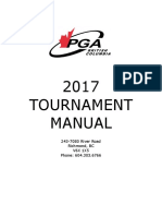 2017 PGA of BC Tournament Manual