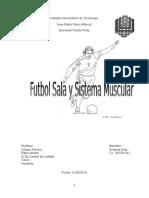 futbol sala y sistema moscular