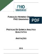 Pratica Quimica Qualitativa 2016 Caderno Entrega