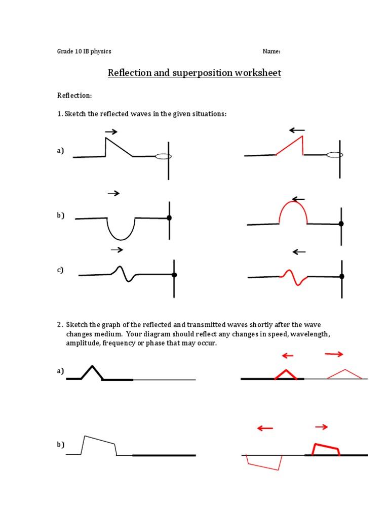 worksheet Diagram Of A Wave Worksheet physics ib 10 waves worksheet answerkey