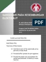 Gangguan Pada Keseimbangan Elektrolit