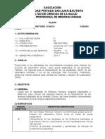 silabus LABORATORIO CLINICO