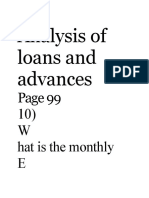 Analysis of loan and advance