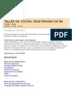 Taller de Cocina Vegetariana de BK_III