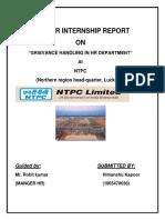 GrievanceNTPC Project Report