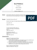 pe teaching resume