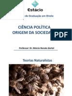 Ciência Política- Texto I - Teorias Naturalistas e Contratualistas