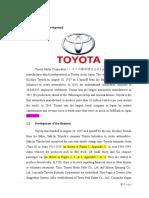 TOYOTA - SWOT Analysis