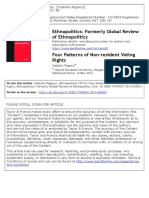 Four Patterns of Non-Resident Voting Rights