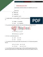 VITEEE Mathematics 2016