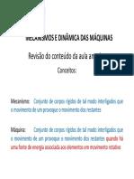 ##Mecanismos e Dinamica Das Máqunas - Aula 02