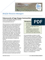 Paleorecords of sage steppe communities