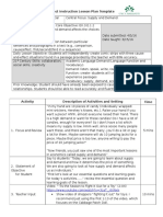 direct instruction lesson plan supply and demand