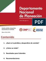 DNP Perdidas alimentos Colombia
