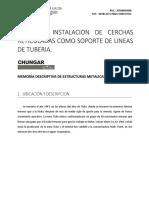 Proyecto Instalacion de Cercha Reticulada Para Linea de Tuberias
