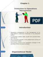 Chapter 1 Operations Management