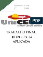 Trabalho Final hidrologia