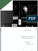 Kant Filosofia de La Historia Que Es Ilustración _OCR