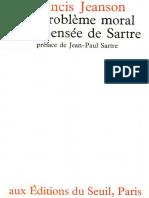Francis Jeanson Le Problème Moral Et La Pensée de Sartre