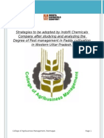 Project Report on the Degree of Pest management in Paddy cultivation.