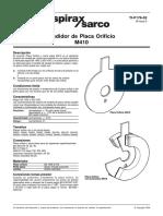 Medidor de Placa Orificio M410-Hoja Técnica