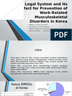 Legal System and Its Effect for Prevention of Work-Related Musculoskeletal Disorders in Korea